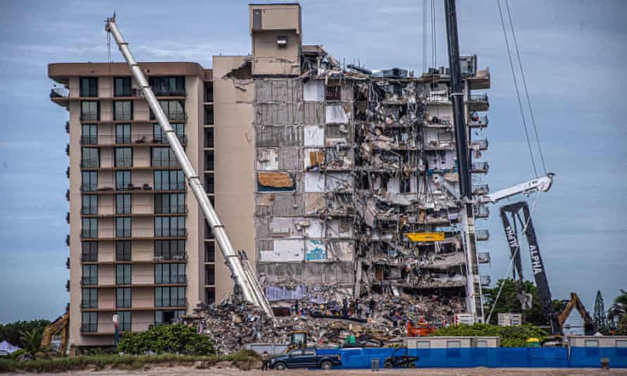 A portion of the Champlain Towers South condo building collapsed on 24 June, crushing those inside.