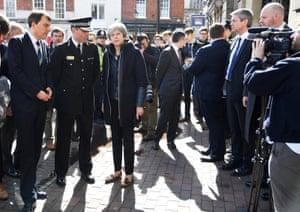 Salisbury, England Theresa May visits Salisbury