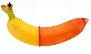 A condom on a banana