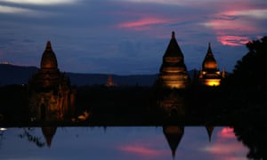The ancient city of Bagan in Myanmar. The country is braced for the arrival of many more tourists but Unicef has warned about the dangers the influx might bring.