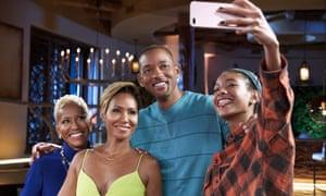 from left: Adrienne Banfield-Jones, Jada Pinkett Smith, Will and Willow Smith
