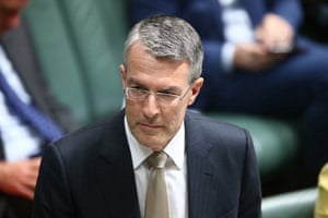 The shadow attorney general, Mark Dreyfus, during question time on Wednesday.