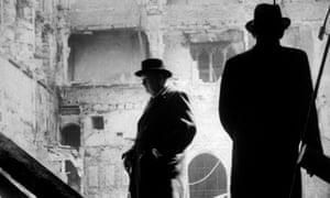 Winston Churchill surveys bomb damage to the south wall of St Stephen's porch in September 1940. Big Ben was not damaged.