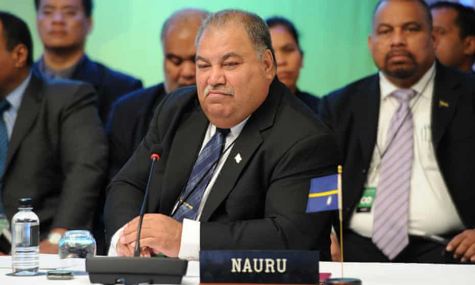 Nauru President Baron Waqa
