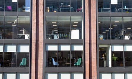 Offices in Birmingham's Colmore business district remain empty