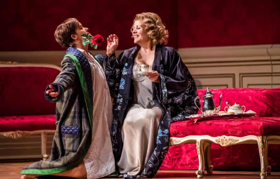 Rosy … Renée Fleming as the Marschallin, with Alice Coote as her lover Octavian.