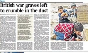 The Times's presentation of Martin Fletcher's story.