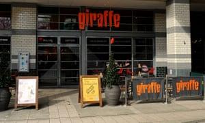 A Giraffe restaurant.