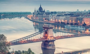 A panorama of Budapest across the Danube