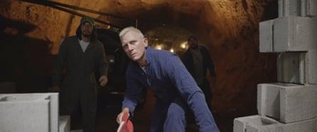 Heist comedy … Adam Driver and Daniel Craig in Logan Lucky.