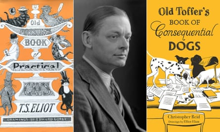 Old Possum's Book of Practical Cats by TS Eliot, centre, and Old Toffer's Book of Consequential Dogs by Christopher Reid.