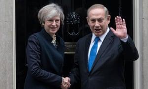 Prime Minister of Israel Benjamin Netanyahu Meets British Prime Minister Theresa May