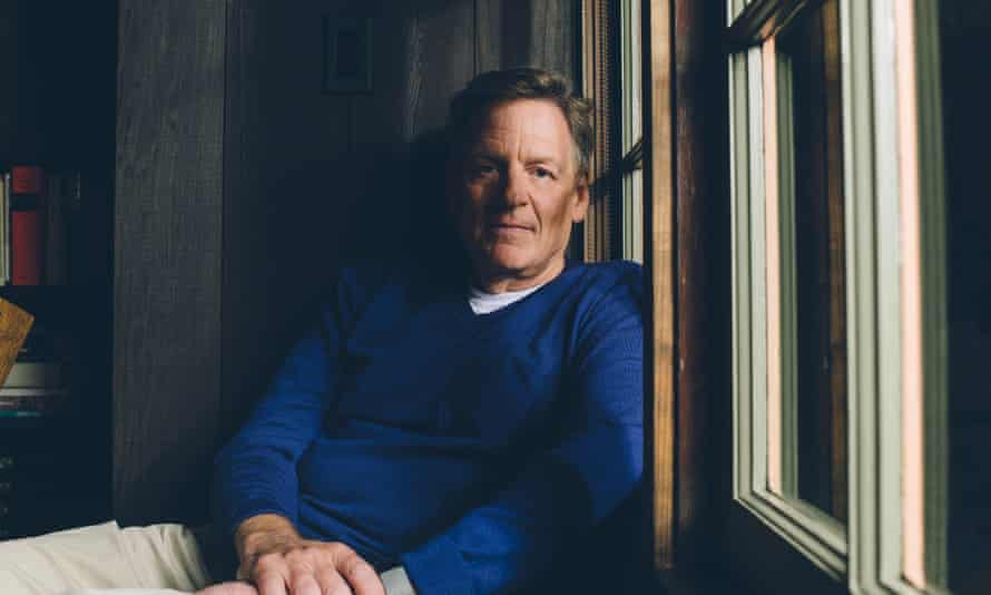 Michael Lewis photographed in his writing room near his home in Berkeley, California, April 2021