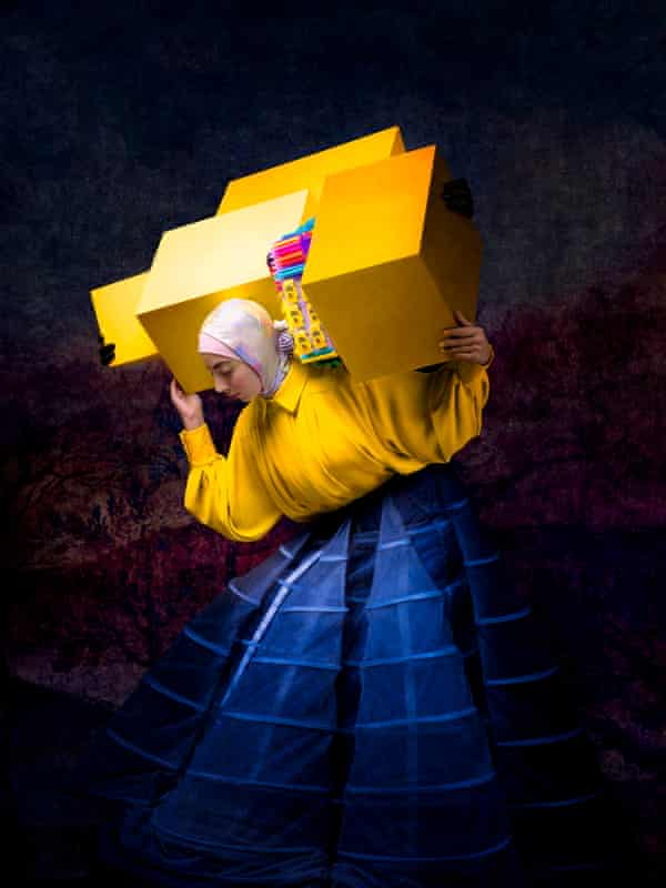 Israa With Yellow Boxes by Cooper-Gorfer.