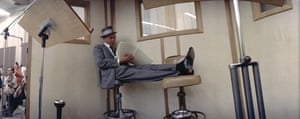 Sinatra puts his feet up during a 1964 recording session for a special Reprise compilation album entitled Reprise Musical Repertory Theatre Presents Guys and Dolls.