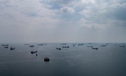 Cargo ships on the Marmara Sea