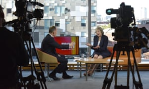 Theresa May appearing on the Andrew Marr Show.