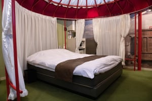 A Mongolian yurt-themed room in a love hotel in Niigata