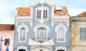 Facade of one of the many art nouveau buildings in Aveiro, Portugal.