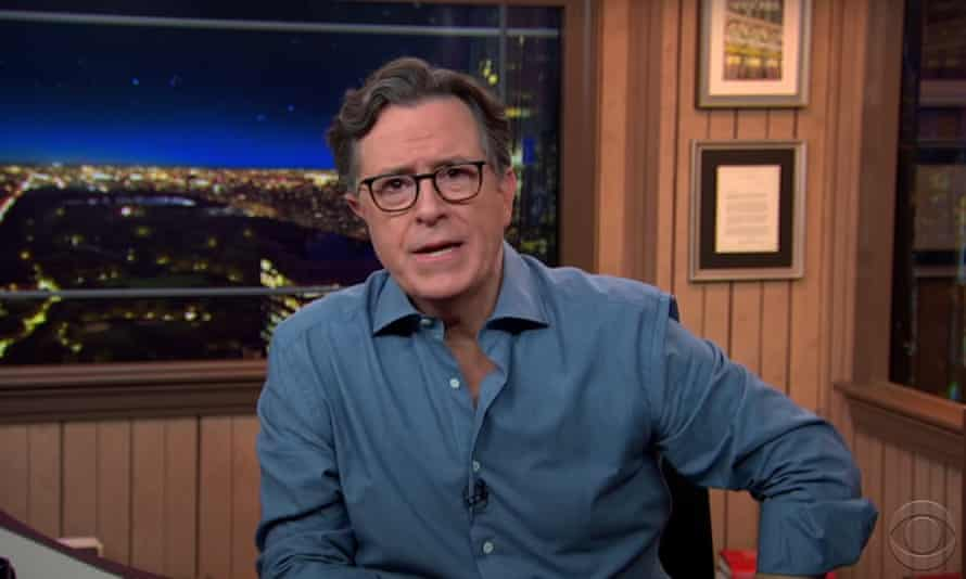"""Stephen Colbert on a rule change that will mute candidates' microphones at Thursday's presidential debate: """"While we're at it, how about a fast forward button? Just zip straight to November 3rd."""""""