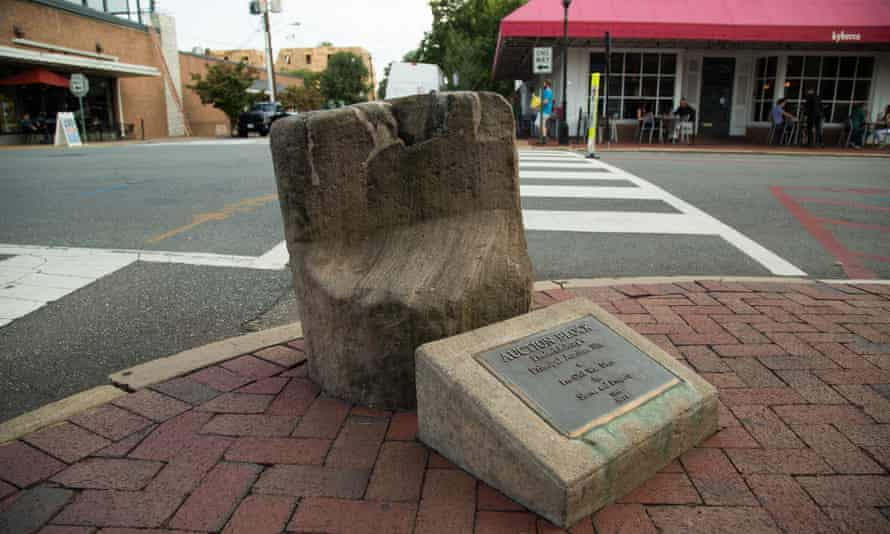 The slave block in Fredericksburg: 'We feel uncomfortable because it represents something that we never want to see again'.