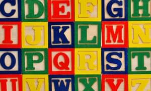 Children's block letters