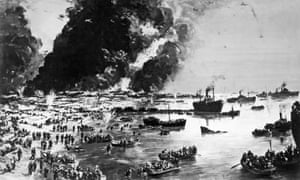 The Evacuation of Dunkirk as painted by Charles Cundall