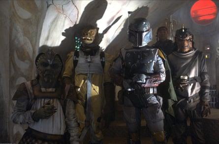 Boba Fett, centre, in 1983's Return of the Jedi.