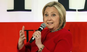 Hillary Clinton<br>FILE - In this April 23, 2019, file photo, Hillary Clinton speaks during the TIME 100 Summit, in New York. Clinton is popping up in presidential politics again, and some Democrats are wary even as they praise her role as a senior party leader. (AP Photo/Richard Drew, File)