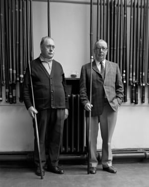 Two snooker players, 1973. The Portraits by John Myers is published by RRB PhotoBooks this month. rrbphotobooks.com