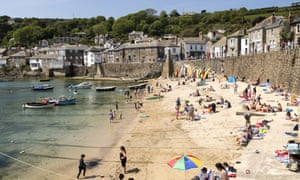 On the beach in Mousehole, Cornwall.