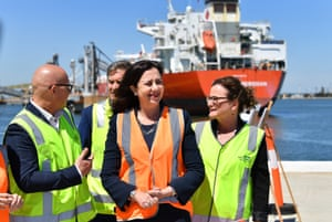 Queensland premier Annastacia Palaszczuk in campaign mode as she announced a new cruise ship terminal at the Port of Brisbane last week.