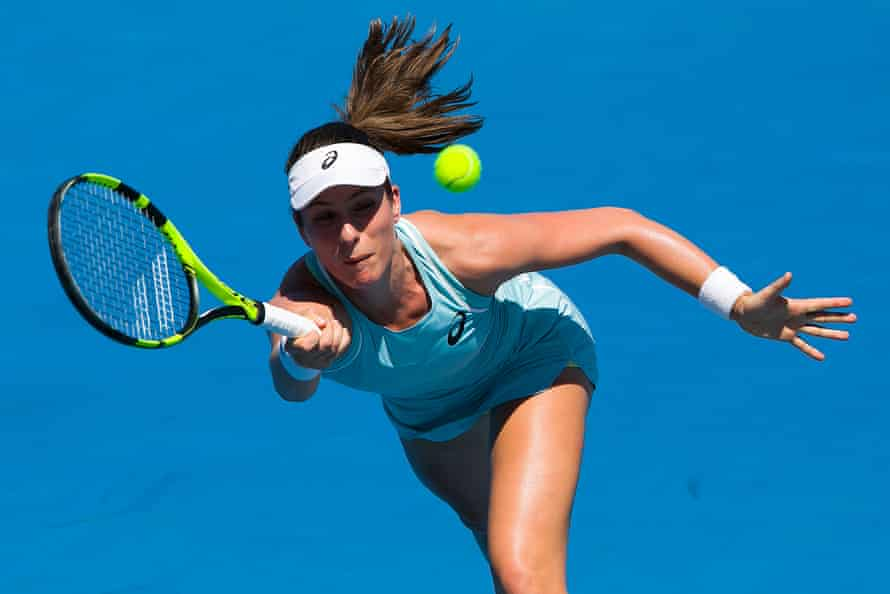 Johanna Konta in action on her way to defeat.