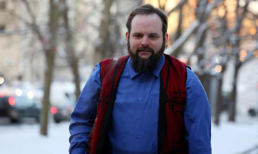 Joshua Boyle arrives at a courthouse for his sentencing hearing in Ottawa, Canada, on 19 December.