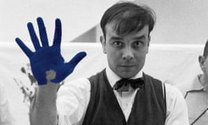 Portrait of Yves Klein who died in 1962 aged 34.
