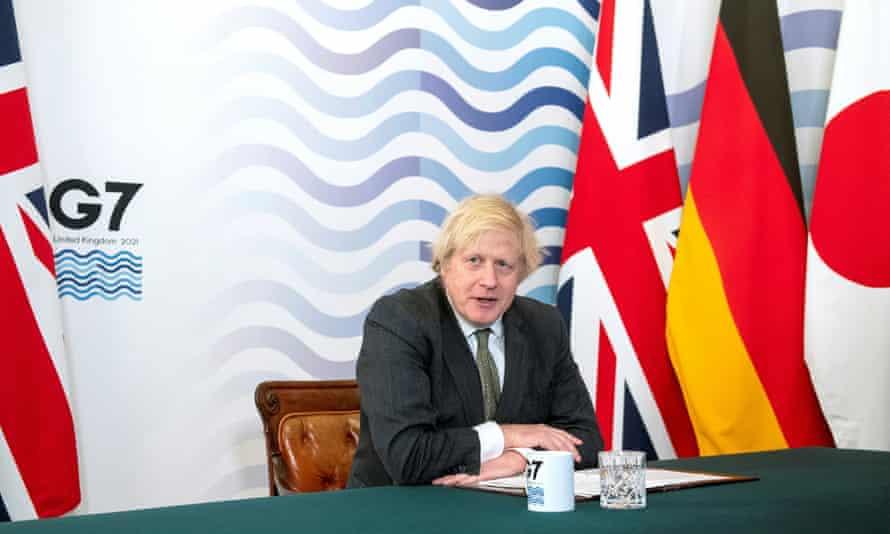 Boris Johnson hosts a virtual G7 summit from Downing Street