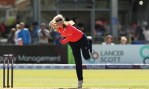 England's 17-year-old left-arm spinner Sophie Ecclestone bowls
