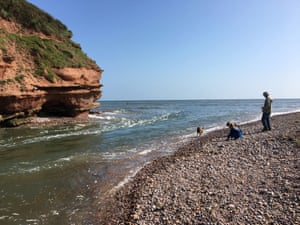 Mouth of the River Otter at Budleigh Salterton