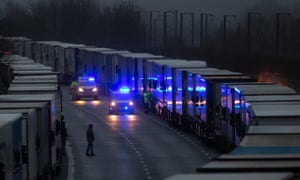 Citing concern over a new covid-19 variant and England's surge in cases, France temporarily closed its border with the UK late Sunday, halting freight and ferry departures from the port of Dover for 48 hours.