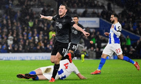 Chris Wood strikes twice as Burnley benefit from Brighton's blunders
