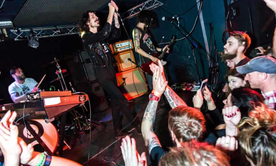 Band performs at The Exchange music venue, Bristol, UK
