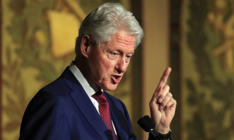 Bill Clinton on stage