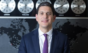 David Miliband at the IRC headquarters in New York.