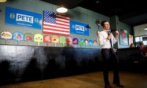 Pete Buttigieg campaigning in New Hampshire.