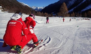 Children's ski school at La Poya
