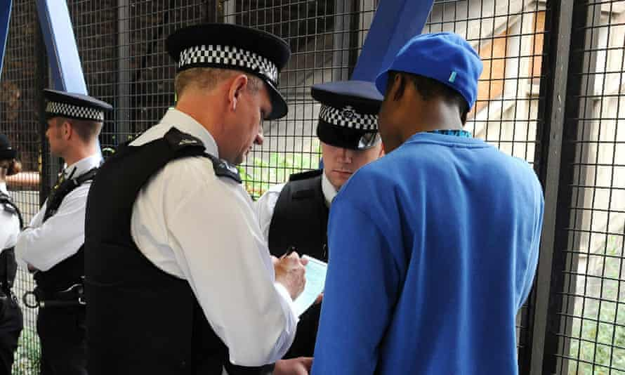 A stop and search operation in London