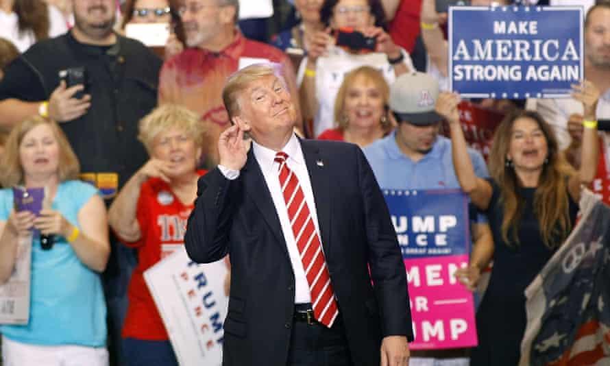 US president Donald Trump at a rally in Phoenix, Arizona, last week.