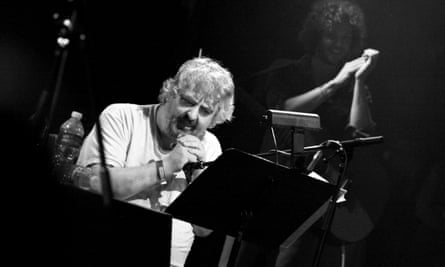 Daniel Johnston on stage in Los Angeles, 2011.