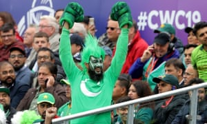 A Pakistan fan during the country's match against Australia