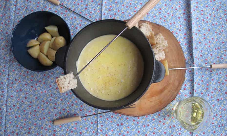 Perfect cheese fondue.